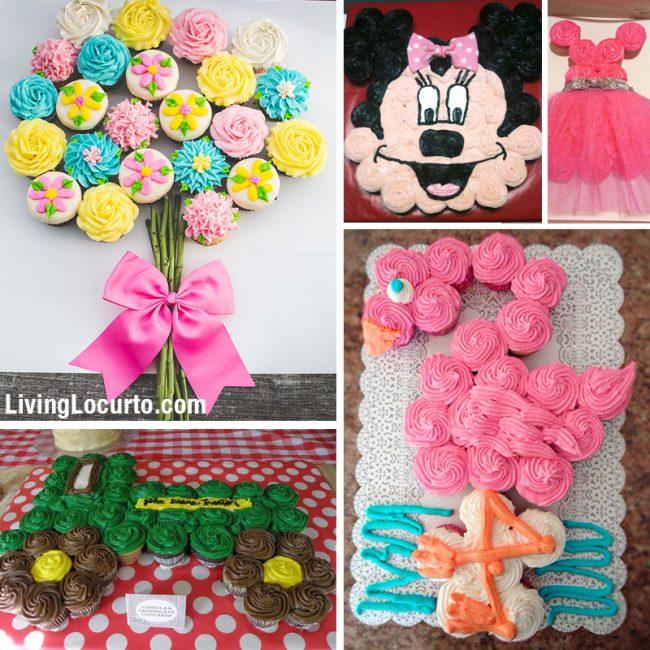 12 Pull Apart Cupcake Cakes Ideas Birthday Photo Pull Apart