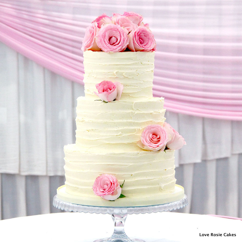 6 3 Tier Wedding Cakes With Roses Photo - 3 Tier Wedding Cake Roses ...