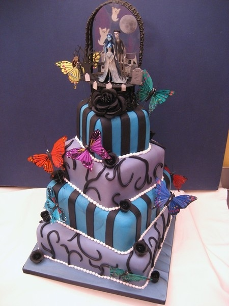 10 Tim Burton Themed Wedding Cakes Photo - Tim Burton Inspired ...