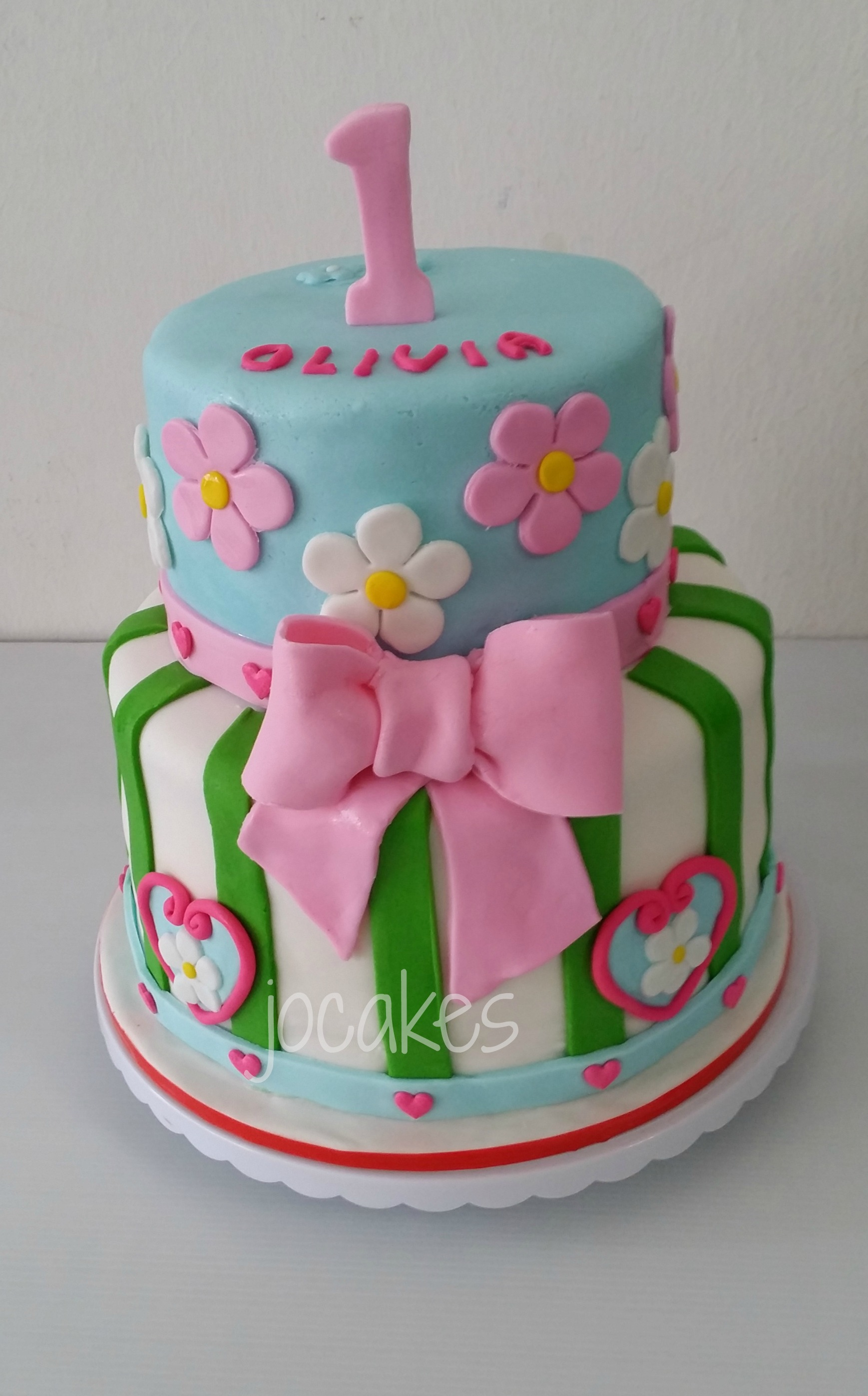 8 1 Year Old Birthday Cakes For Girls Photo 1st Birthday Cake
