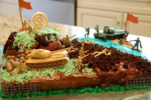 Fine 13 Homemade Army Birthday Cakes Photo Army Birthday Cake Army Funny Birthday Cards Online Benoljebrpdamsfinfo