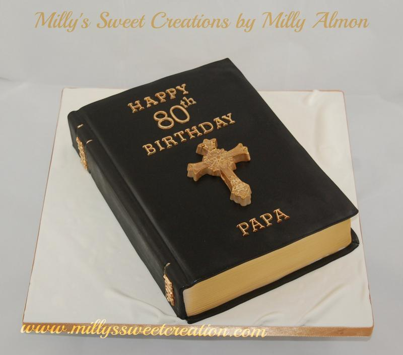 8 Bible Birthday Cakes Shape Photo Bible Shaped Birthday Cake