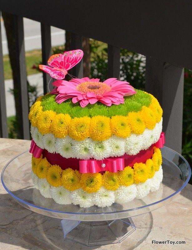 10 Floral Art Cakes Photo Flower Wedding Cake Birthday Cake With