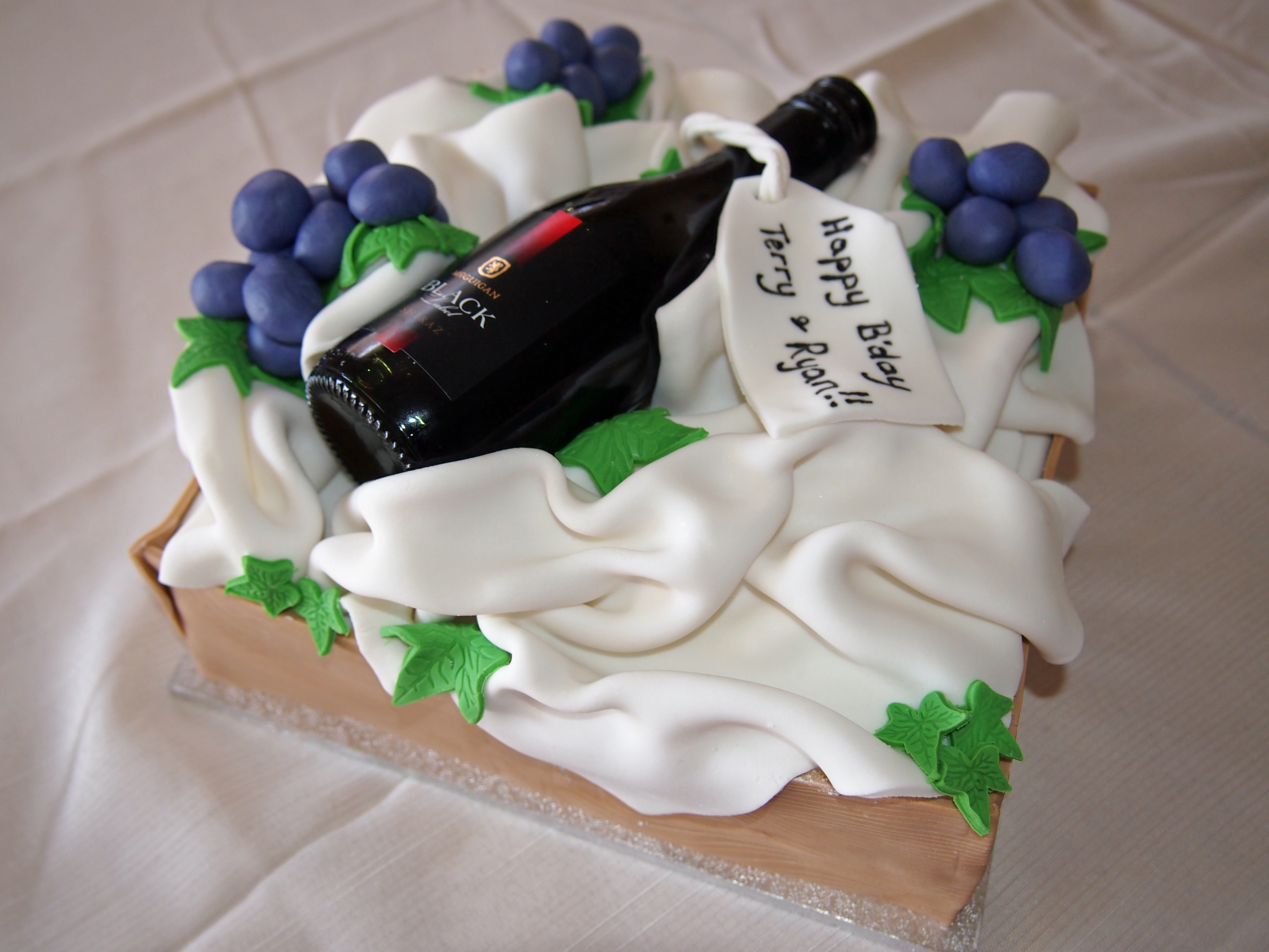 9 Happy Birthday Cakes With Wine Bottles Photo Birthday Cake With