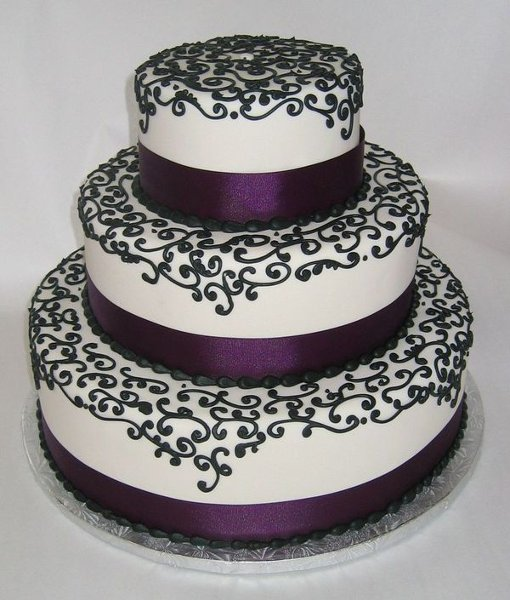 13 Dark Purple Wedding Cakes Photo Wedding Cake With Purple