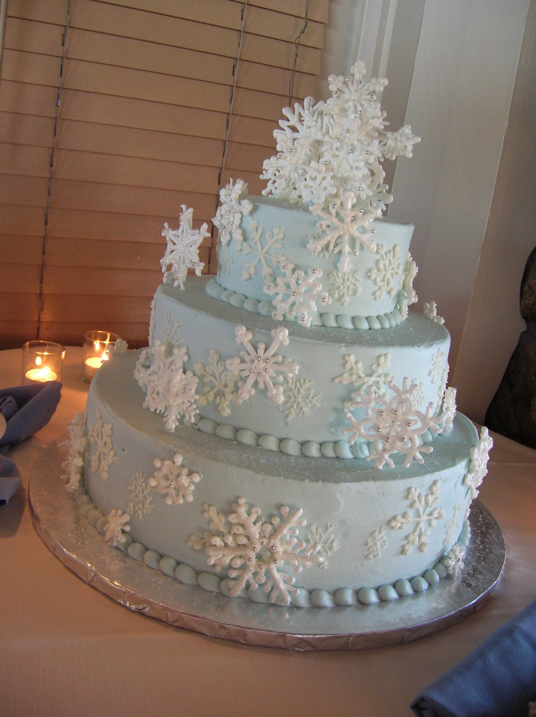 9 Blue Winter Wonderland Wedding Cakes Photo Winter Wonderland
