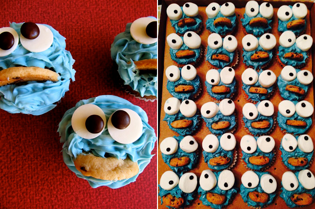 Cookie monster on pinterest cookie monster cupcakes