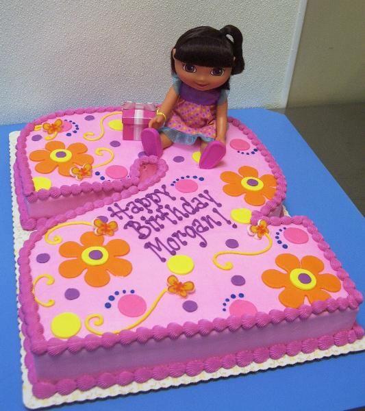 Marvelous 10 Dora 2 Birthday Cakes Photo Dora Birthday Party Cakes Dora Birthday Cards Printable Benkemecafe Filternl