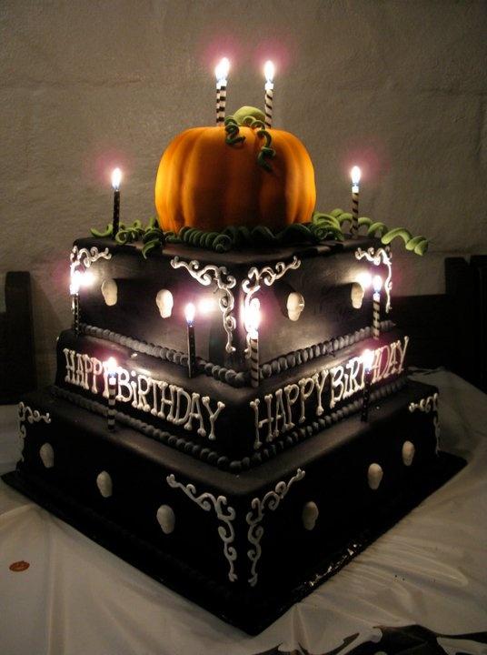 Cool 9 Halloween Birthday Cakes For Adults Photo Halloween 50Th Personalised Birthday Cards Veneteletsinfo