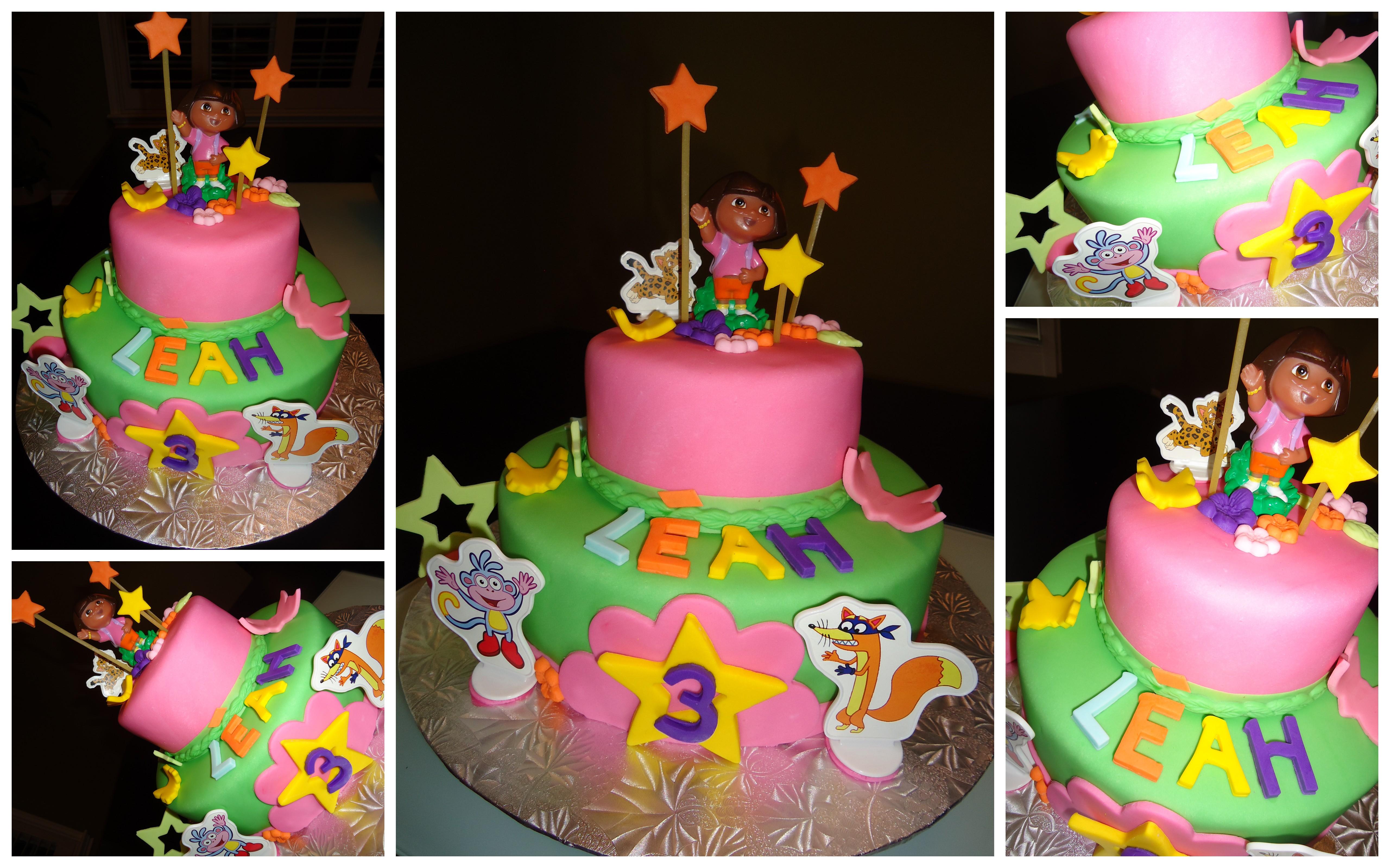 10 Dora 2 Birthday Cakes Photo Dora Birthday Party Cakes Dora The