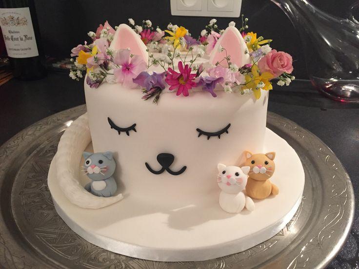 10 Cool Kitten Cakes Photo Cat Birthday Cake Cool Cat Birthday
