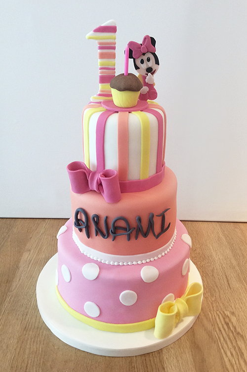 11 3 Tier Minnie Cakes Photo Minnie Mouse 3 Tier Cake Minnie