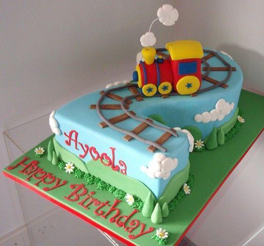 Number 2 Cake Design For Boys