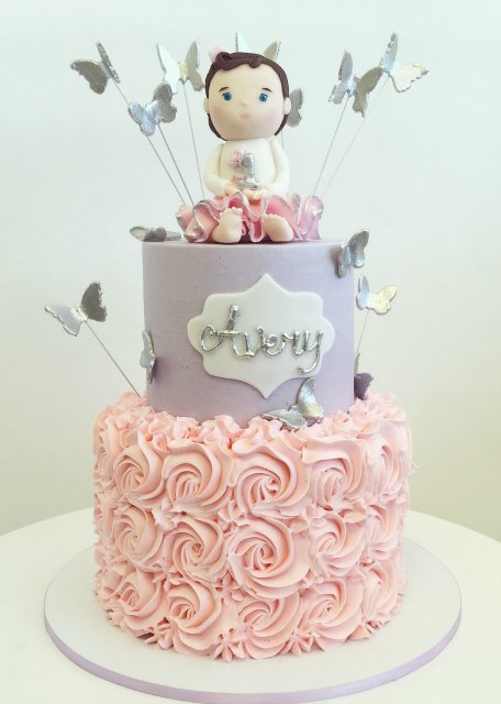 Fine 7 Silver And Pink First Birthday Cakes Photo Pink And Silver Funny Birthday Cards Online Amentibdeldamsfinfo