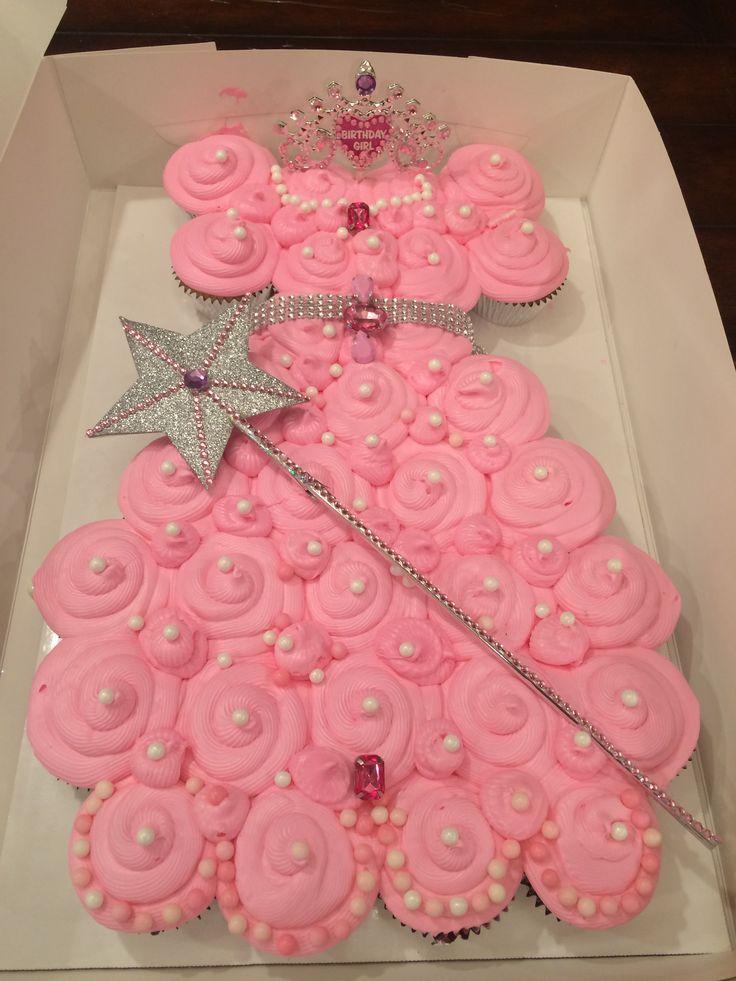 13 Princess Cupcake Cakes For Girls Photo Princess Dress Cupcake