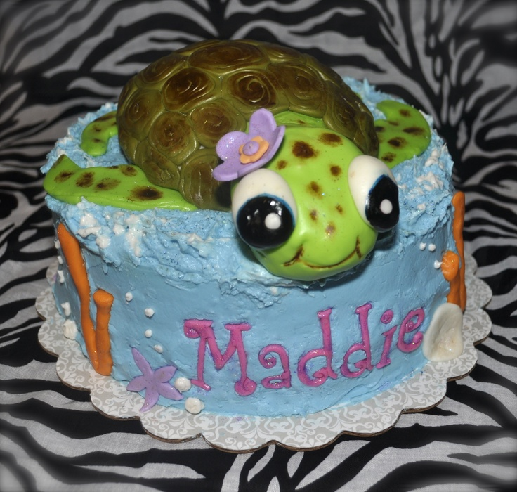 6 Cakes Decorated With Sea Turtles Photo Sea Turtle Cake Sea