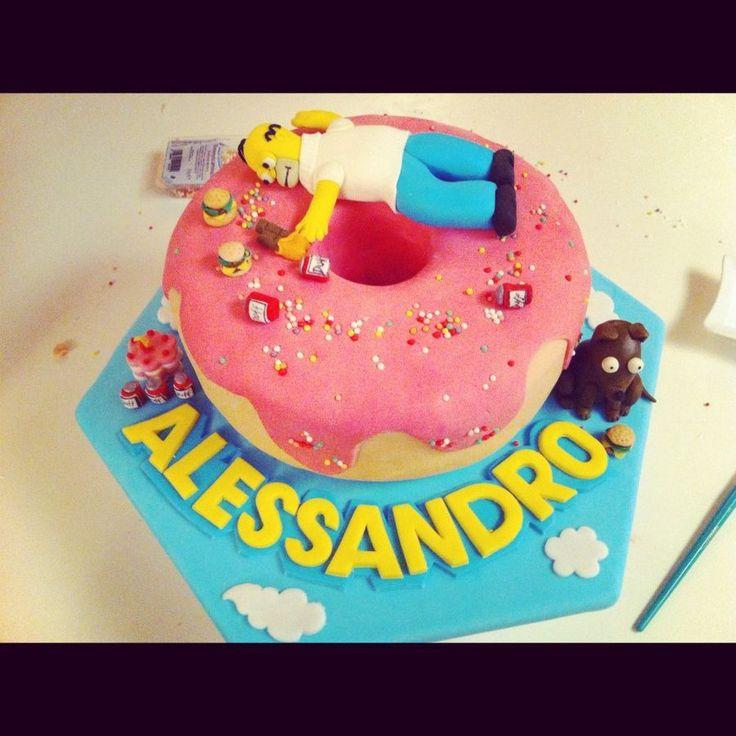 Brilliant 10 The Simpsons Movie Cakes Photo Simpson Birthday Cake Ideas Birthday Cards Printable Inklcafe Filternl