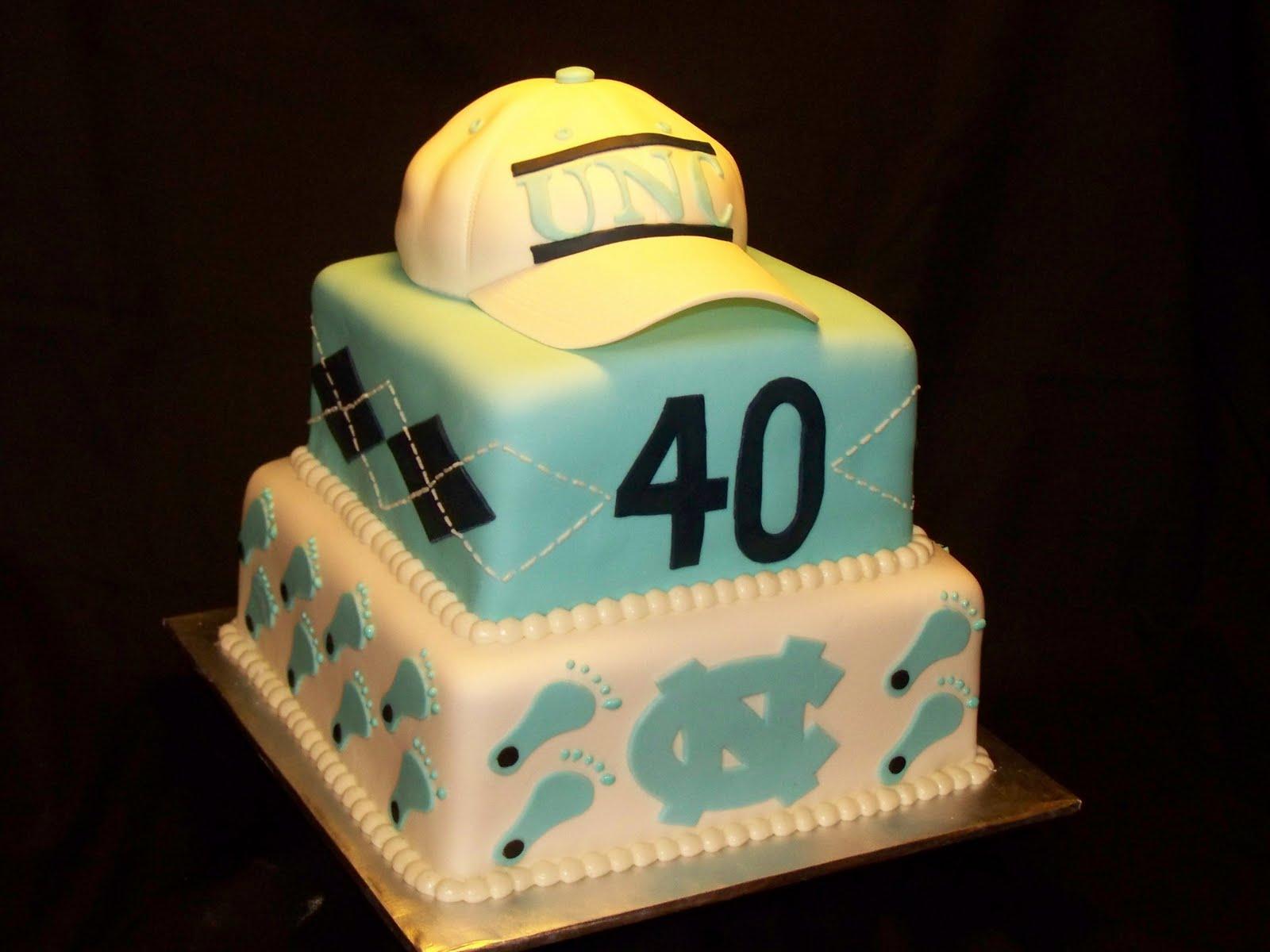 6 UNC Fondant Cakes Photo UNC Tar Heel Birthday Cake UNC
