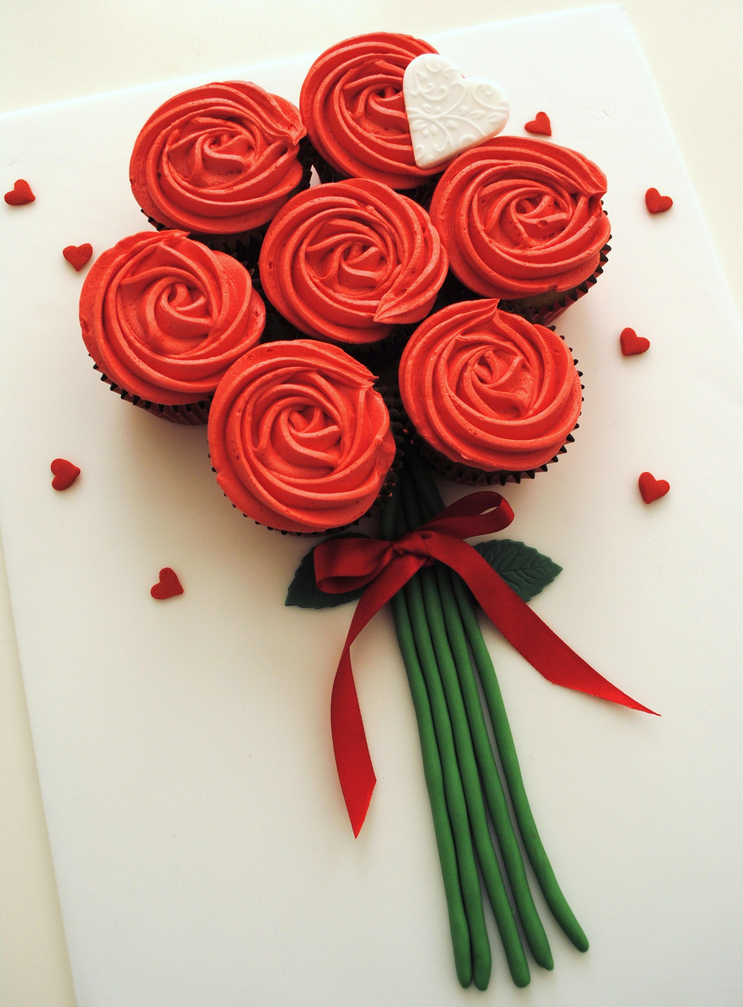 10 valentines flowers cupcakes photo valentine cupcake bouquet valentine cupcake bouquet ideas izmirmasajfo Choice Image