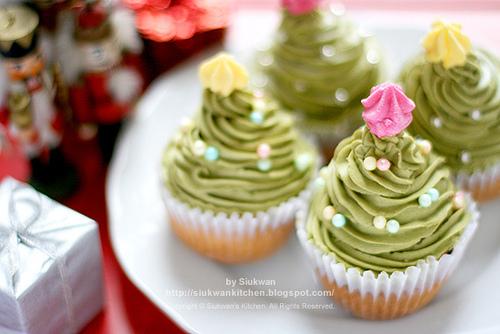 10 Miniature Christmas Cupcakes Photo Mini Christmas Cupcakes