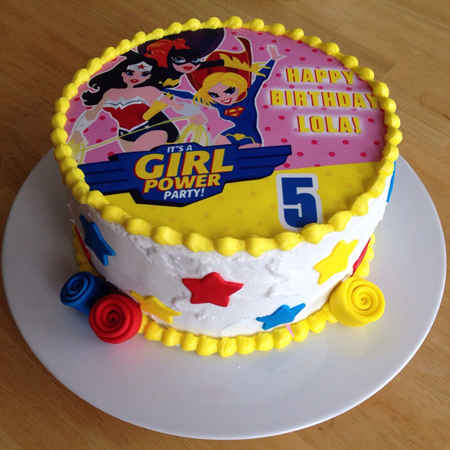 DC Super Hero Girls Cake Topper
