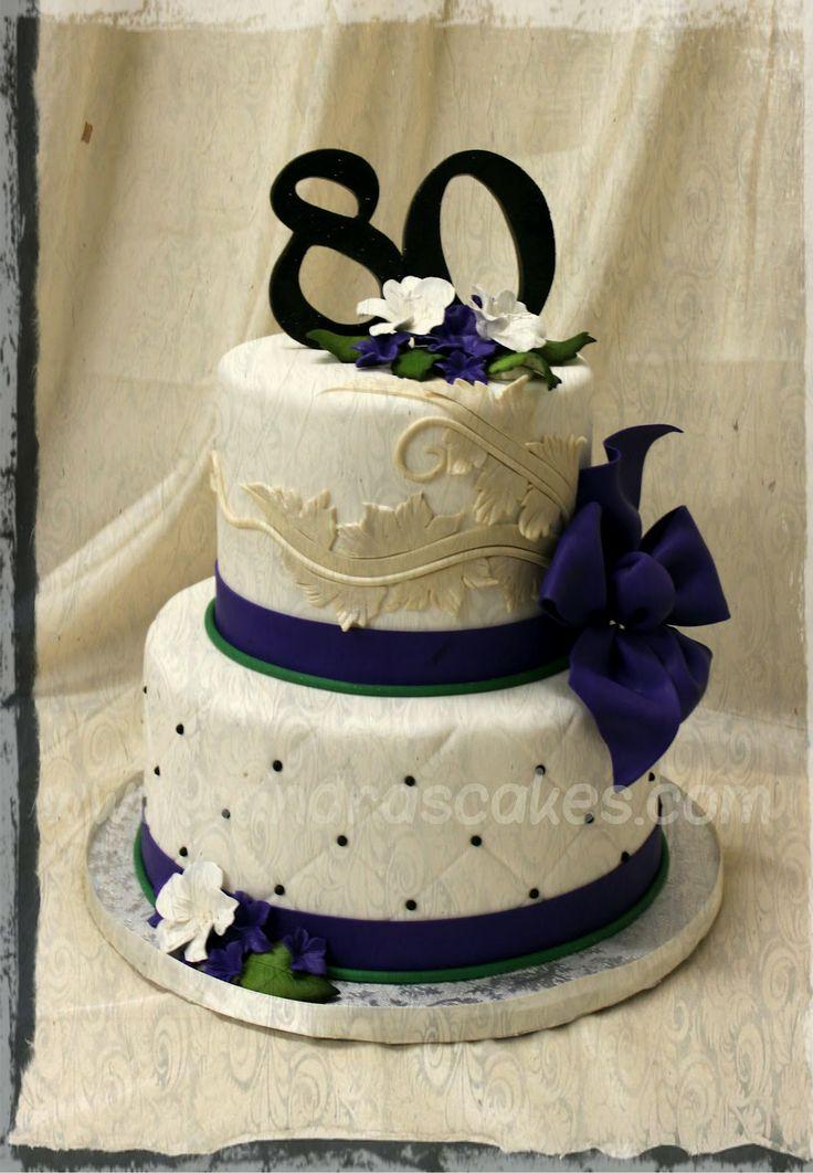 11 Elegant 70th Birthday Cakes For Women Photo Elegant 70th