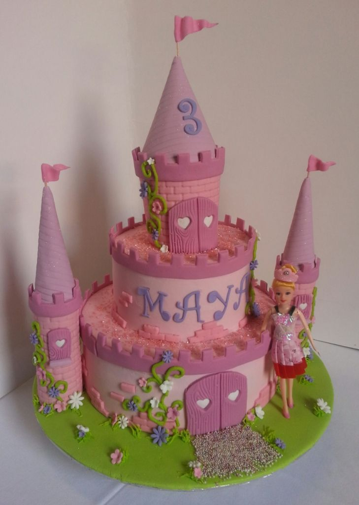 7 Princess Castle Birthday Cakes For Girls Photo Girls Princess