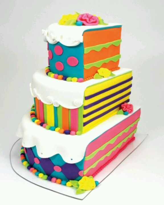 5 Fun Cakes Pinterest Photo Summer Cake And Cupcakes Half