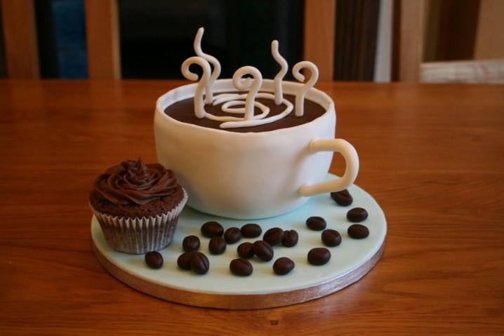 Superb 7 Birthday Cupcakes And Coffee Photo Happy Birthday Cake And Funny Birthday Cards Online Kookostrdamsfinfo