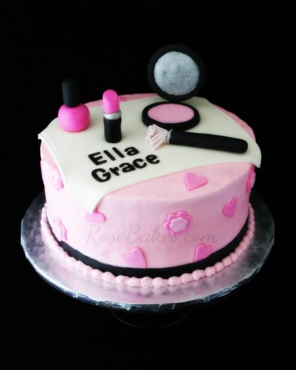 Nail Polish And Make Up Cake Ideas