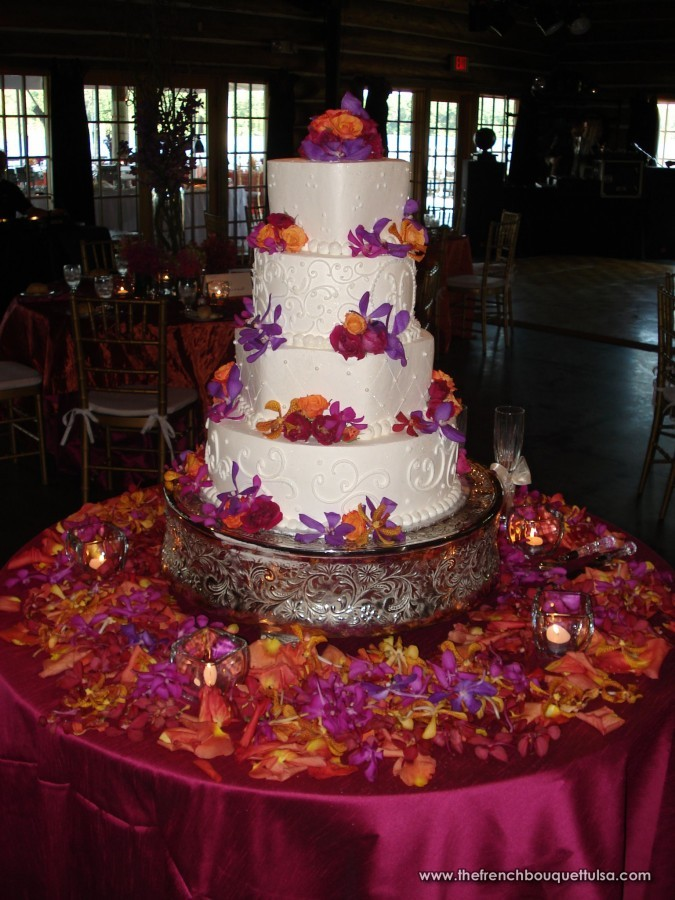 8 Red Yellow Purple Wedding Cakes Photo Red Yellow And Purple