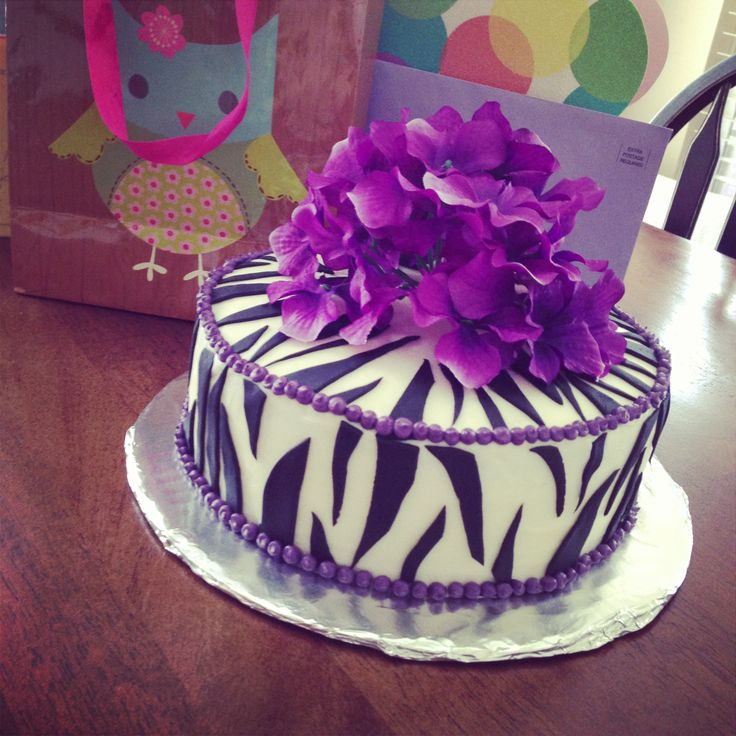 9 Flower Birthday Cakes For Teens Photo Purple Teen Girl Birthday