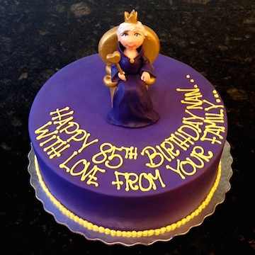 Queen Purple Birthday Cake