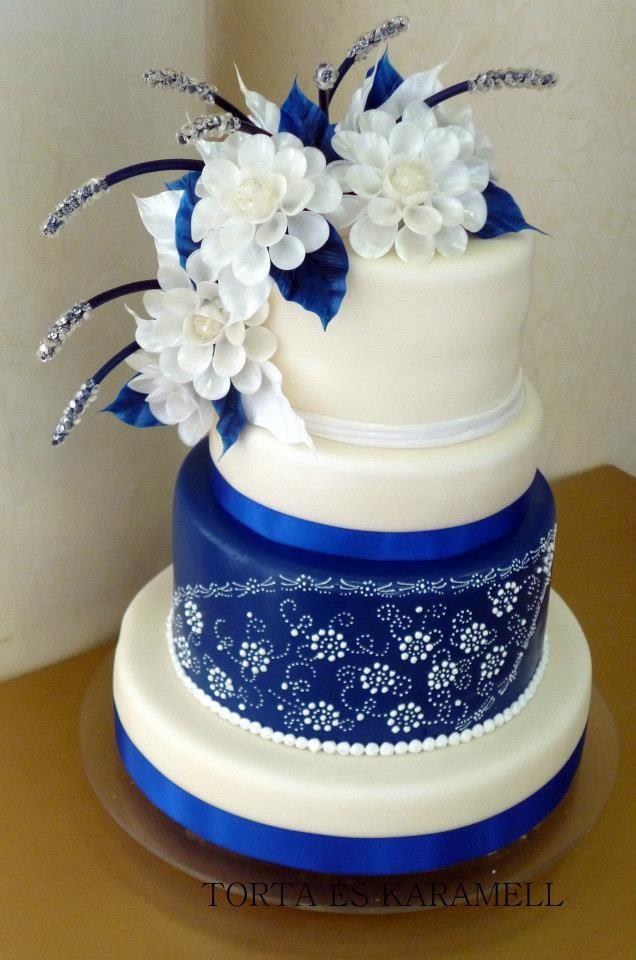 9 Blue And White Wedding Cakes Photo Unique Wedding Cake Blue