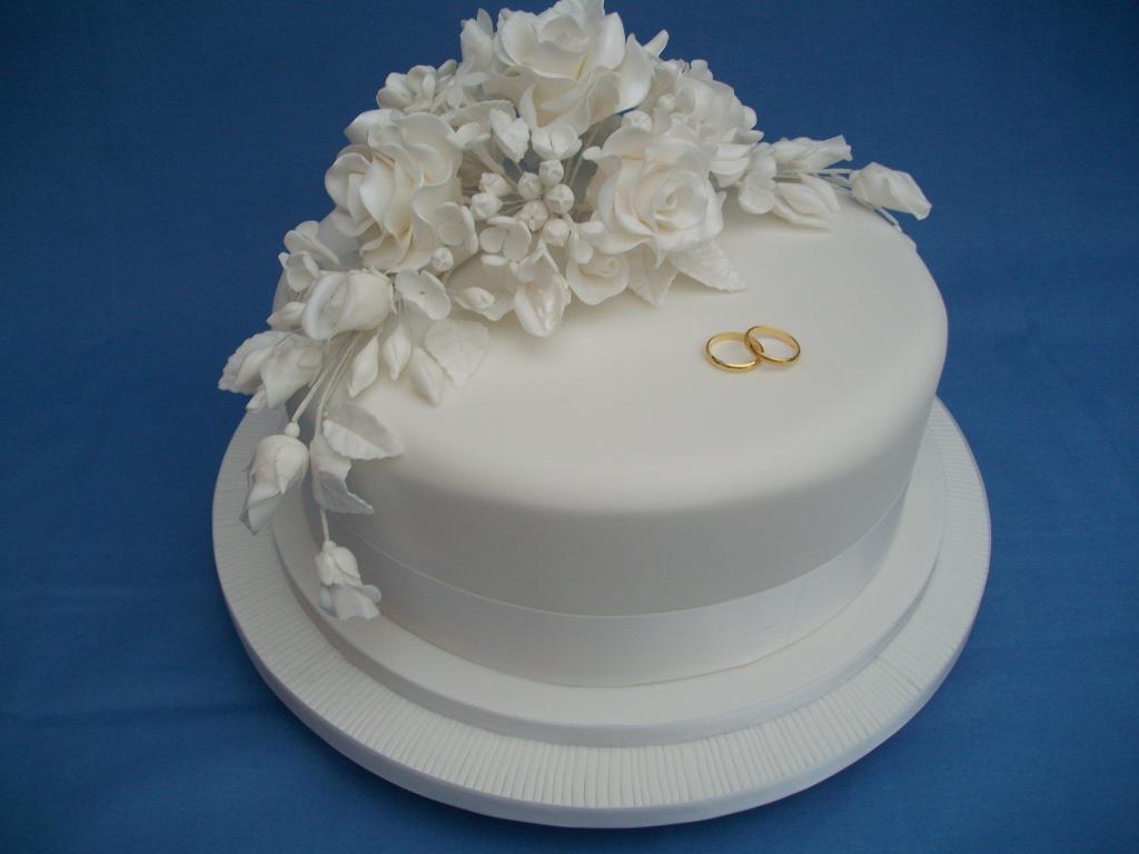 Simple One Tier Wedding Cakes