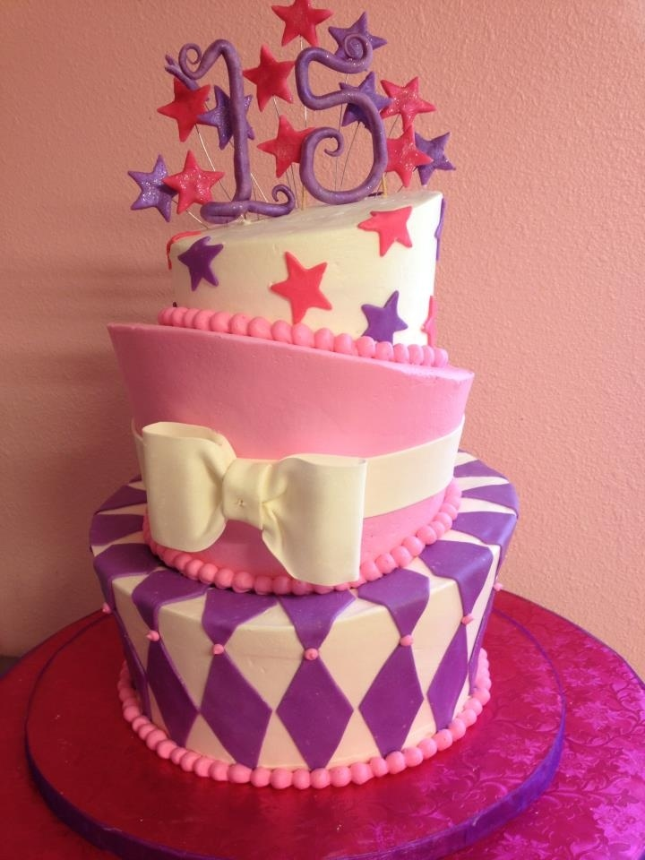Sweet 15 Birthday Cake
