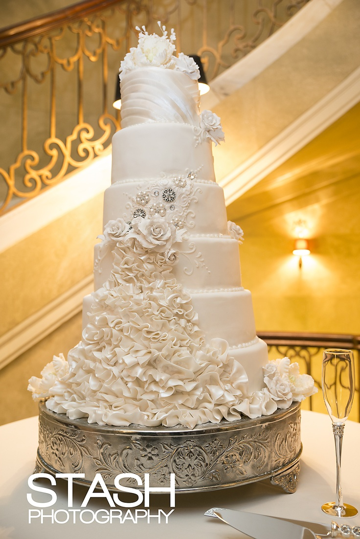 12 Tall Elegant Wedding Cakes Photo - Tall Elegant Wedding Cake ...