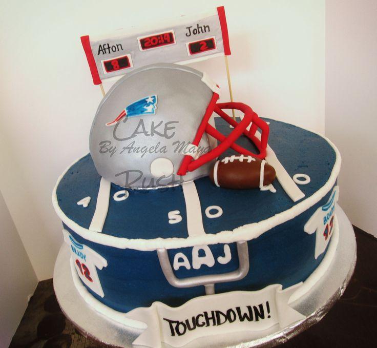 11 Tom Brady Grooms Cakes Photo Patriots Football Birthday Cakes