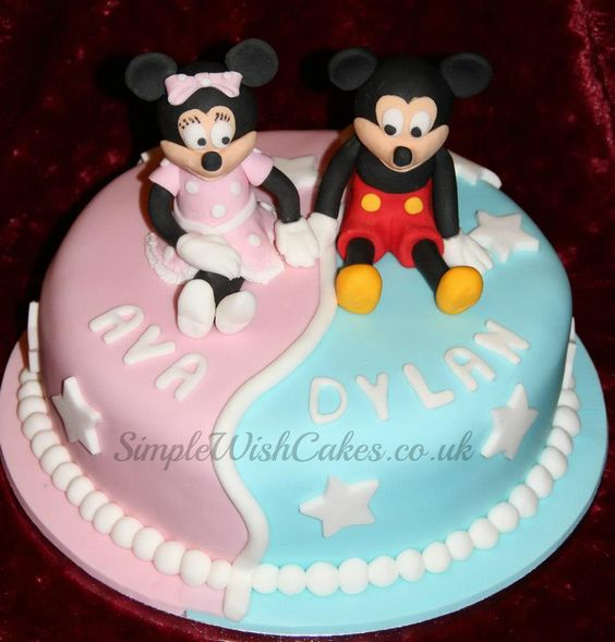 Fine 6 2Nd Birthday Cakes For Twins Photo Twin Birthday Cake Ideas Personalised Birthday Cards Veneteletsinfo