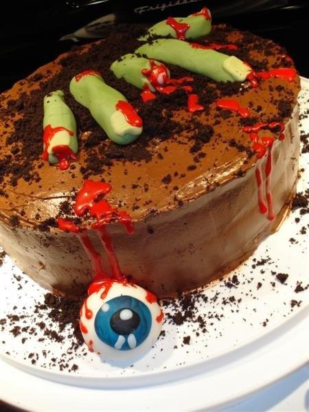 10 Zombie Bday Cakes Photo