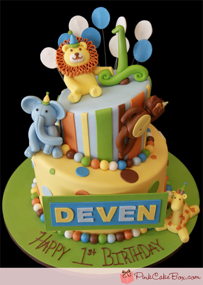 Fabulous 10 Wildlife Birthday Cakes Photo Jungle Animal Birthday Cake Funny Birthday Cards Online Benoljebrpdamsfinfo