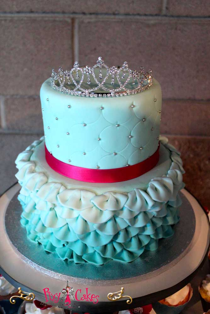 2 Tier Girls Princess Birthday Cake