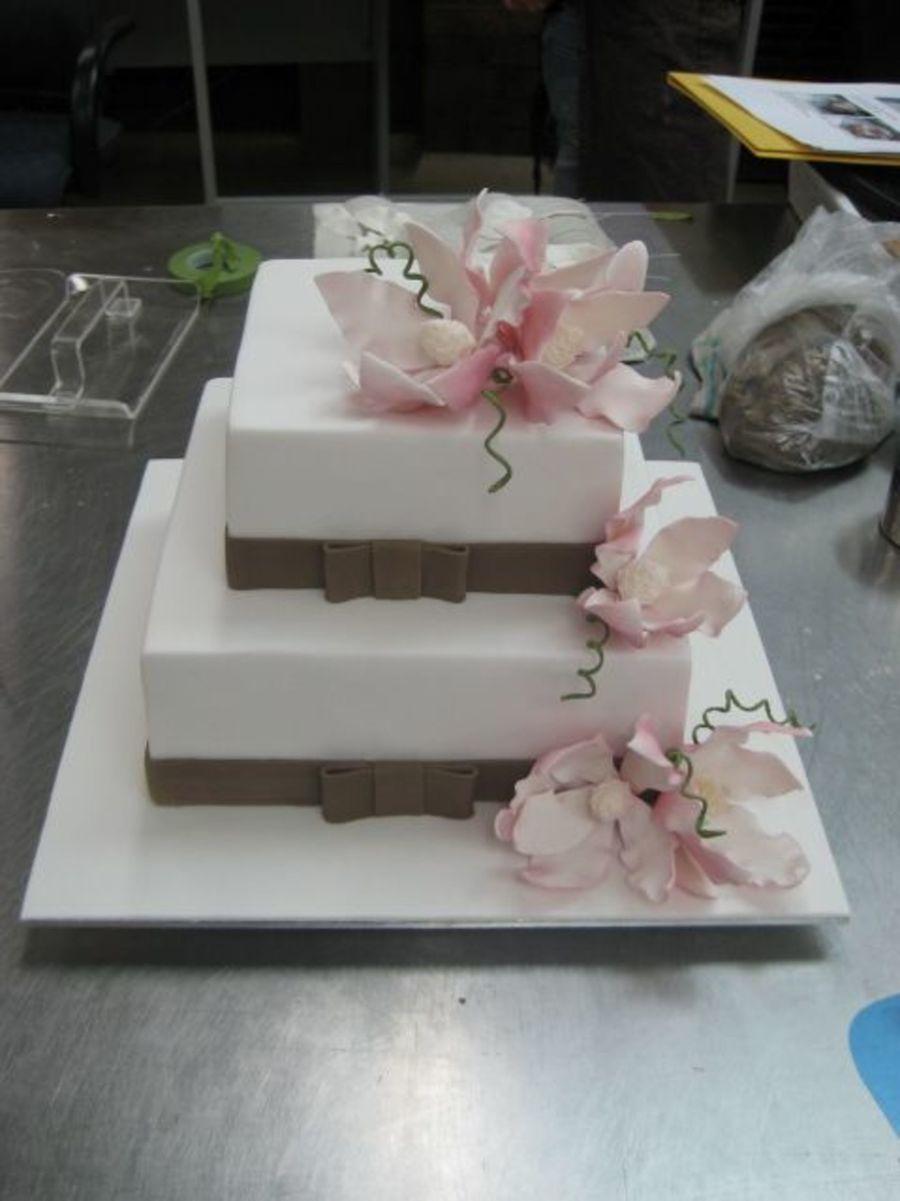 11 6 Tier Square Wedding Cakes Photo - Tier Cascade Wedding Cake ...