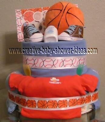 ... Basketball Baby Shower Diaper Cake ...
