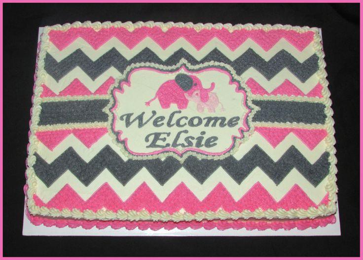 12 Chevron Sheet Cakes For Girls Photo Chevron Birthday Sheet Cake