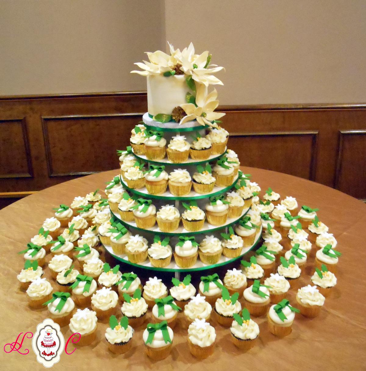 Blue And Green Cupcake Wedding Cake - 5000+ Simple Wedding Cakes