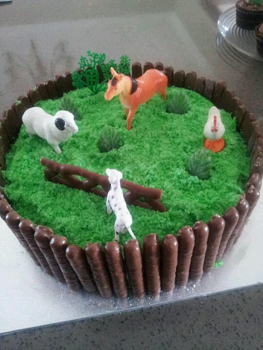 10 Farm Themed Birthday Cakes Easy To Make Photo Easy Farm