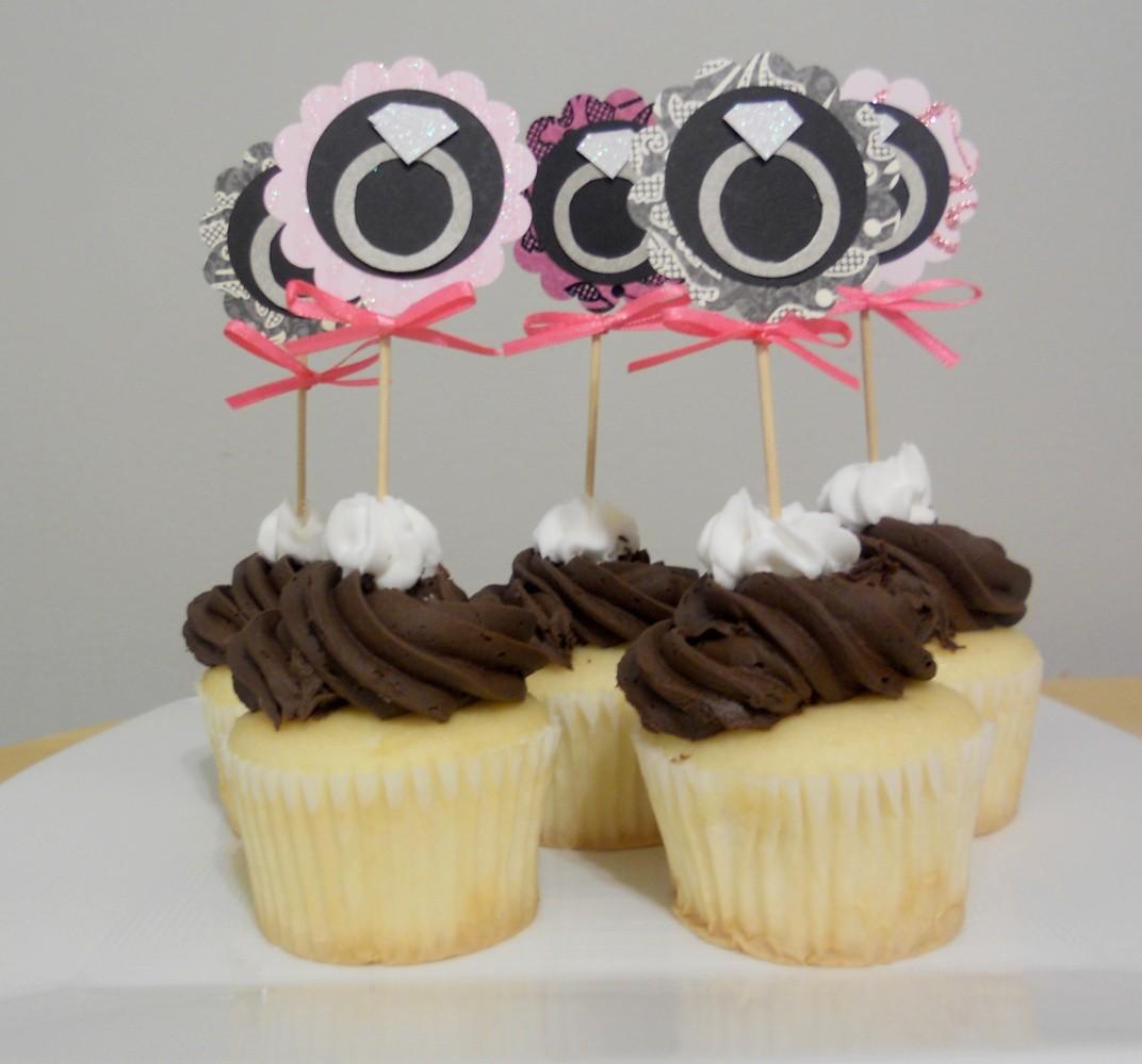 Engagement Ring Cupcake Toppers: Wedding Ring Cupcake Picks At Websimilar.org