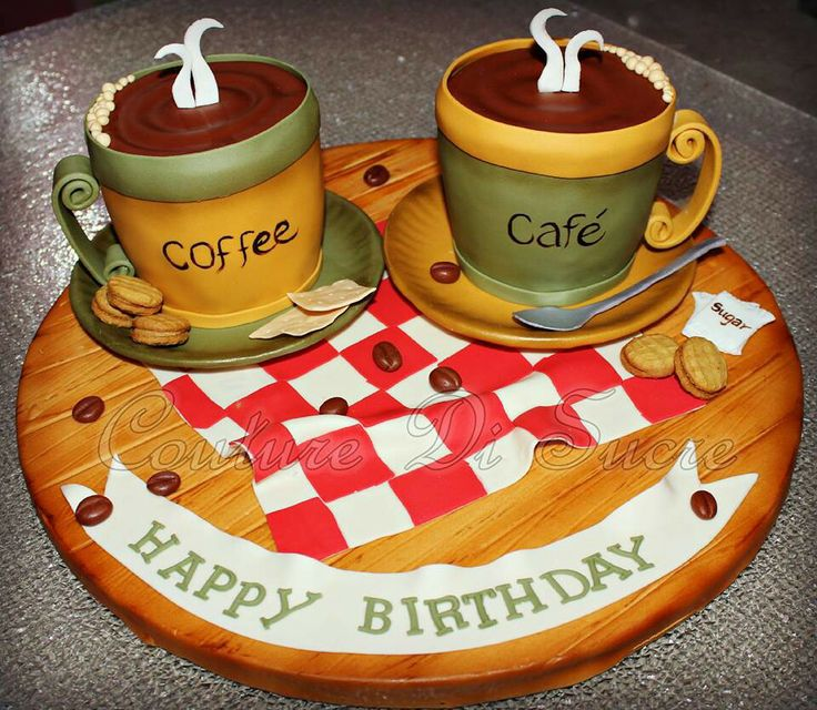 12 Coffee Cup Unique Birthday Cakes Photo Cake Shaped Like Coffee