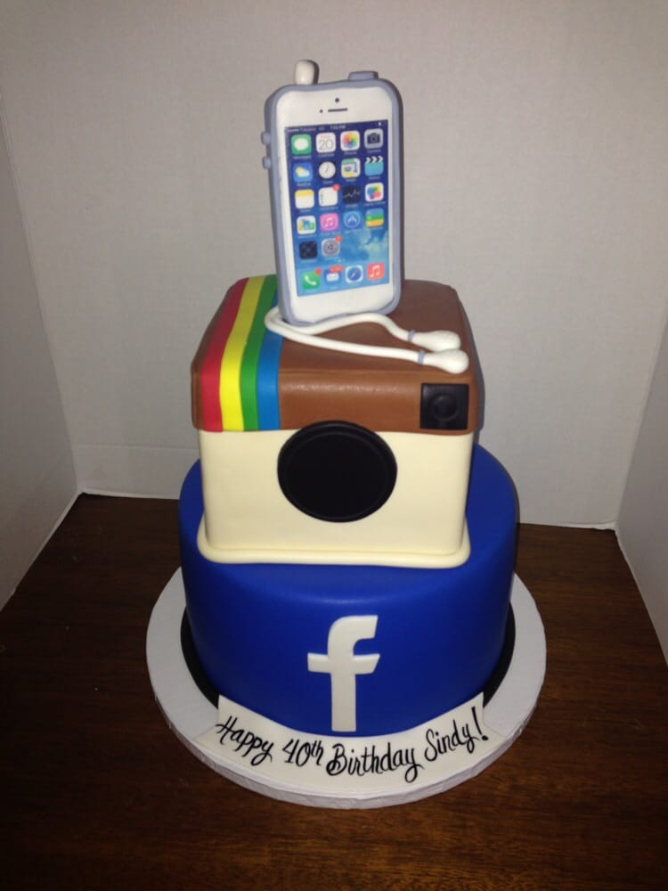 Tremendous 10 Facebook Cakes By Kivia Photo Happy Birthday Cake Instagram Funny Birthday Cards Online Alyptdamsfinfo